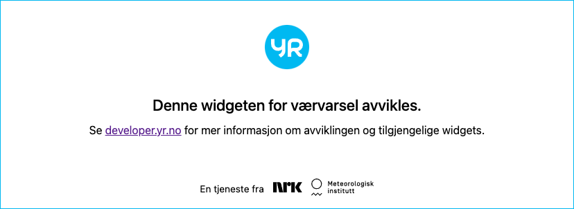 Meteogram for Austad/Fjell